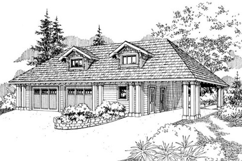 House Plan Design - Craftsman Exterior - Front Elevation Plan #124-788