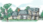 Modern Style House Plan - 2 Beds 3 Baths 2692 Sq/Ft Plan #52-205 Exterior - Front Elevation