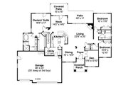 Craftsman Style House Plan - 3 Beds 2.5 Baths 3112 Sq/Ft Plan #124-758 Floor Plan - Main Floor Plan