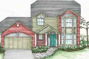 Traditional Style House Plan - 3 Beds 2.5 Baths 1920 Sq/Ft Plan #136-107