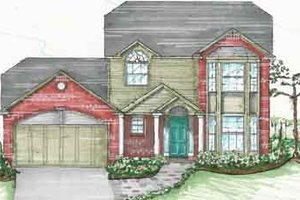 Traditional Exterior - Front Elevation Plan #136-107