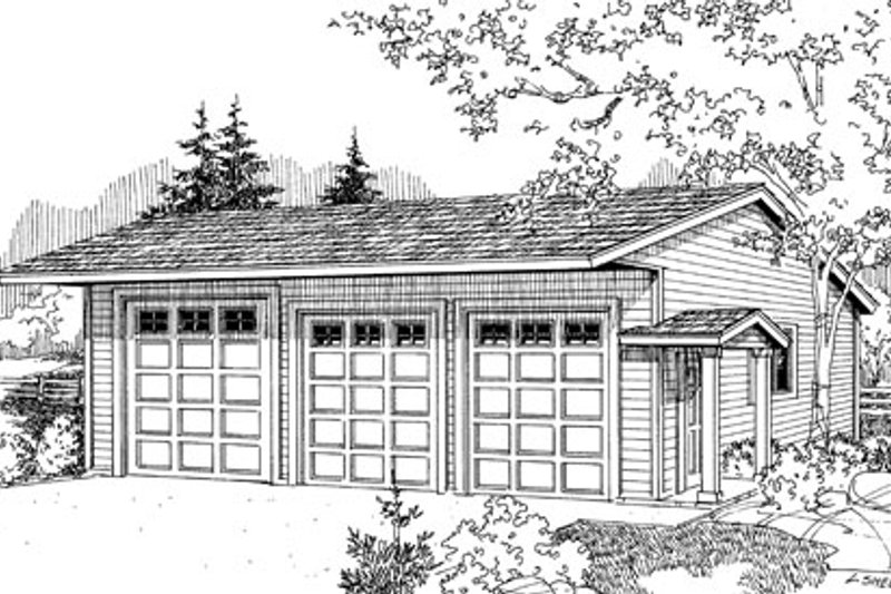 Traditional Style House Plan - 0 Beds 0 Baths 1440 Sq/Ft Plan #124-792 Exterior - Front Elevation