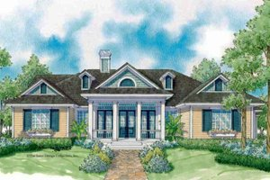 Ranch Exterior - Front Elevation Plan #930-244