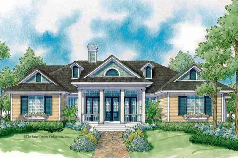 Ranch Style House Plan - 3 Beds 2 Baths 2454 Sq/Ft Plan #930-244 Exterior - Front Elevation