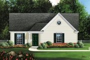 Traditional Style House Plan - 3 Beds 2 Baths 1078 Sq/Ft Plan #424-238 Exterior - Front Elevation