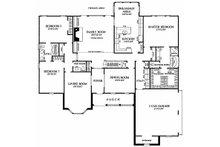 Southern Floor Plan - Main Floor Plan Plan #137-205