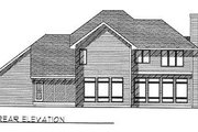 Traditional Style House Plan - 4 Beds 2.5 Baths 2493 Sq/Ft Plan #70-400 Exterior - Rear Elevation