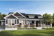 Dream House Plan - Traditional Exterior - Front Elevation Plan #1073-2