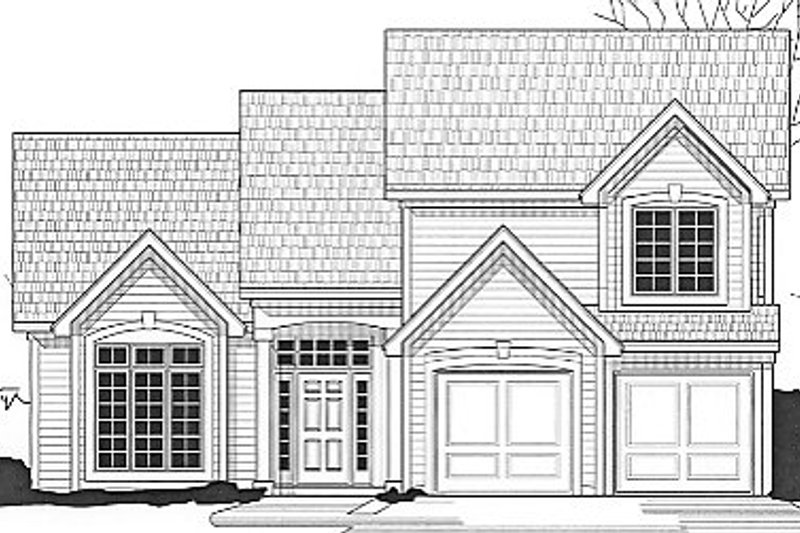 Traditional Style House Plan - 3 Beds 2 Baths 1249 Sq/Ft Plan #67-628 Exterior - Front Elevation