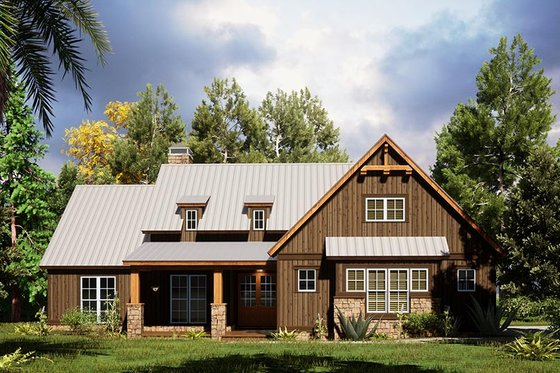 Craftsman Exterior - Front Elevation Plan #923-165