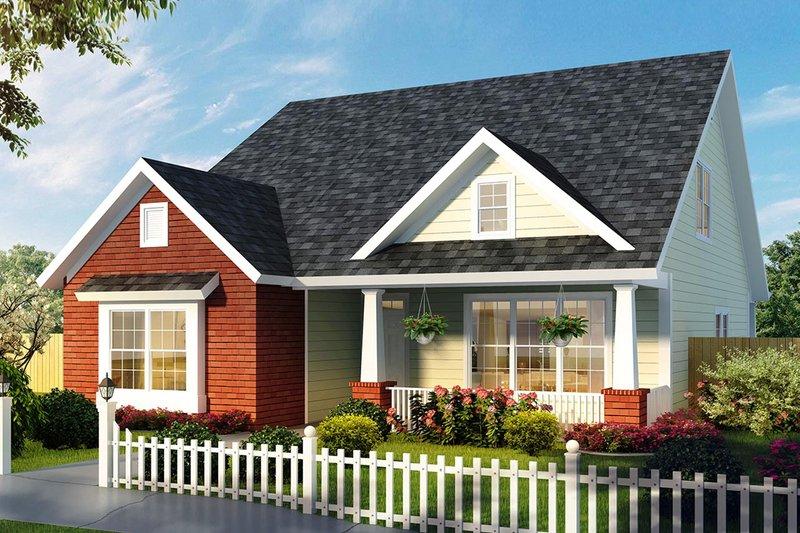 Dream House Plan - Craftsman Exterior - Front Elevation Plan #513-2169