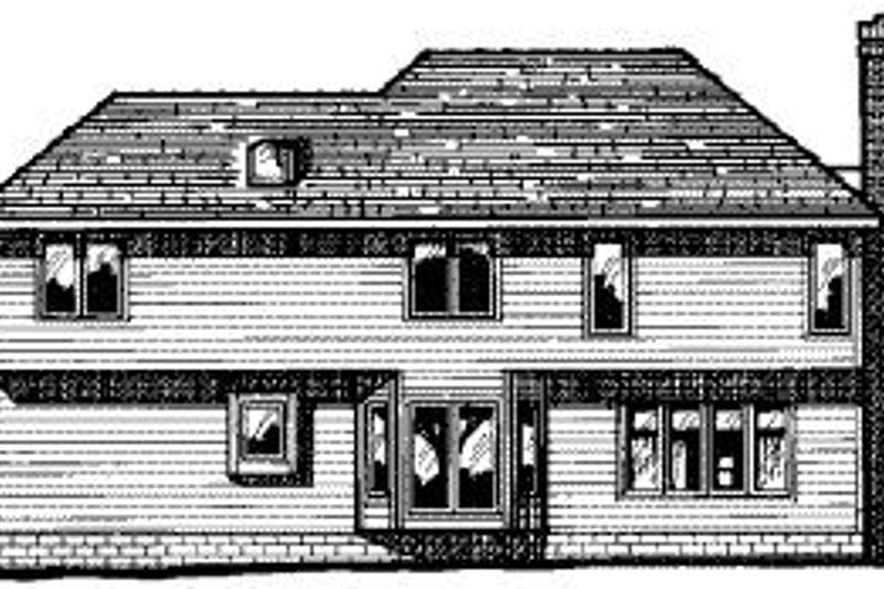 Traditional Exterior - Rear Elevation Plan #20-709 - Houseplans.com