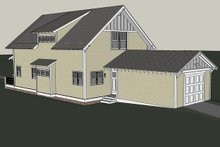 House Plan Design - Craftsman Exterior - Rear Elevation Plan #461-24