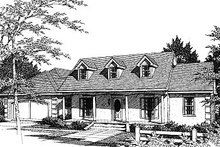 Dream House Plan - European Exterior - Front Elevation Plan #14-115