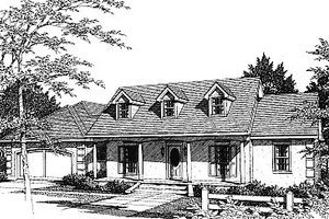 European Exterior - Front Elevation Plan #14-115