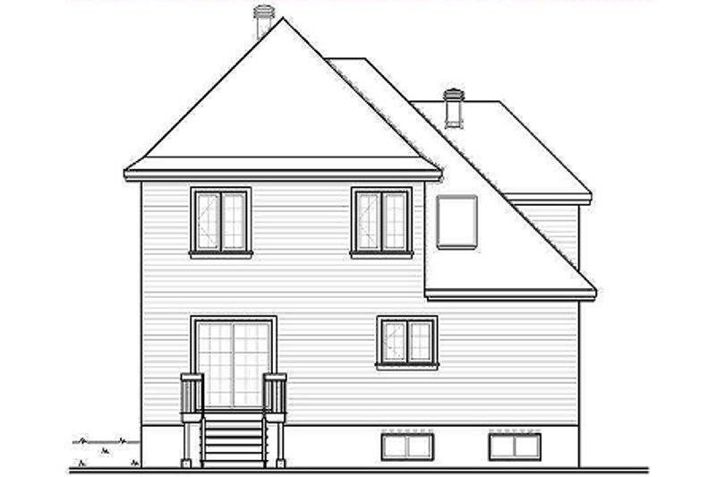 European Exterior - Rear Elevation Plan #23-2081 - Houseplans.com