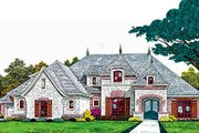 European Style House Plan - 4 Beds 2.5 Baths 3411 Sq/Ft Plan #310-697 Exterior - Front Elevation