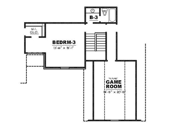 European Floor Plan - Upper Floor Plan #34-229