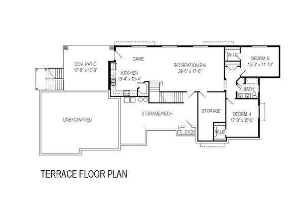 Modern Floor Plan - Lower Floor Plan Plan #920-41