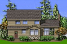 Dream House Plan - Traditional Exterior - Rear Elevation Plan #48-396
