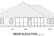 Traditional Style House Plan - 3 Beds 2 Baths 1788 Sq/Ft Plan #513-2064 Exterior - Rear Elevation