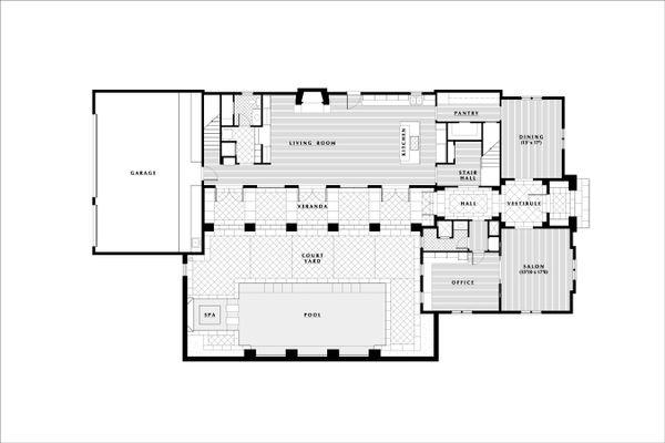European Floor Plan - Main Floor Plan Plan #531-3