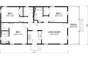 Cottage Style House Plan - 3 Beds 2 Baths 1112 Sq/Ft Plan #514-15 Floor Plan - Main Floor Plan
