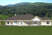 Bungalow Style House Plan - 3 Beds 2.5 Baths 3393 Sq/Ft Plan #117-558 Exterior - Front Elevation