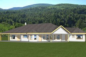 House Plan Design - Bungalow Exterior - Front Elevation Plan #117-558