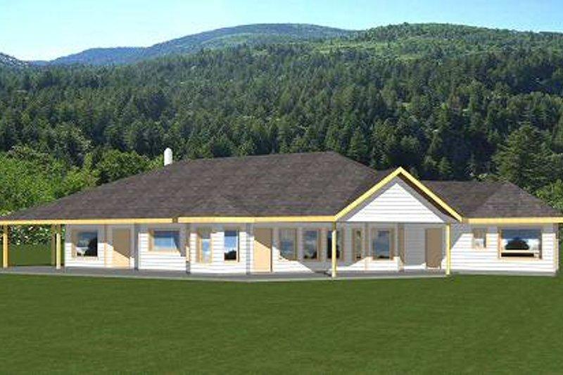 Bungalow Exterior - Front Elevation Plan #117-558 - Houseplans.com