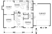 Farmhouse Style House Plan - 4 Beds 2.5 Baths 2500 Sq/Ft Plan #48-105 Floor Plan - Main Floor Plan