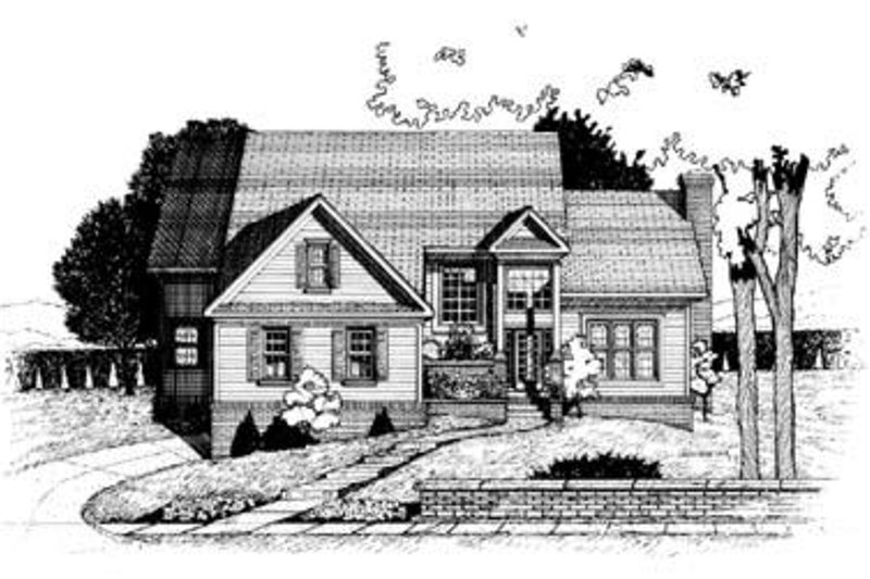Traditional Exterior - Front Elevation Plan #20-980 - Houseplans.com