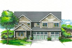 Craftsman Exterior - Front Elevation Plan #53-590