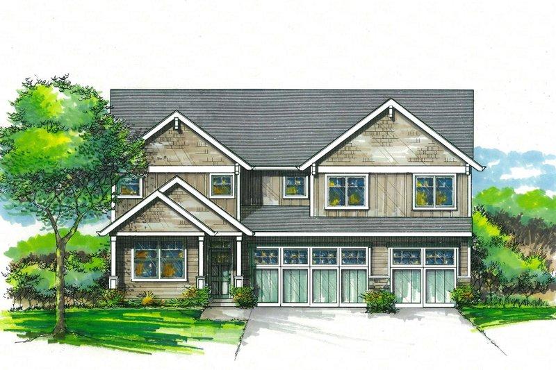 House Plan Design - Craftsman Exterior - Front Elevation Plan #53-590
