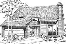 Home Plan - Modern Exterior - Front Elevation Plan #320-430