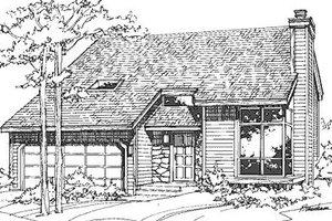 Modern Exterior - Front Elevation Plan #320-430