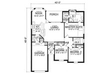 Traditional Floor Plan - Main Floor Plan Plan #40-282