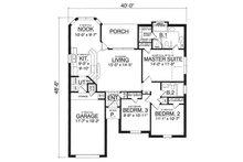 Traditional Floor Plan - Main Floor Plan Plan #40-282