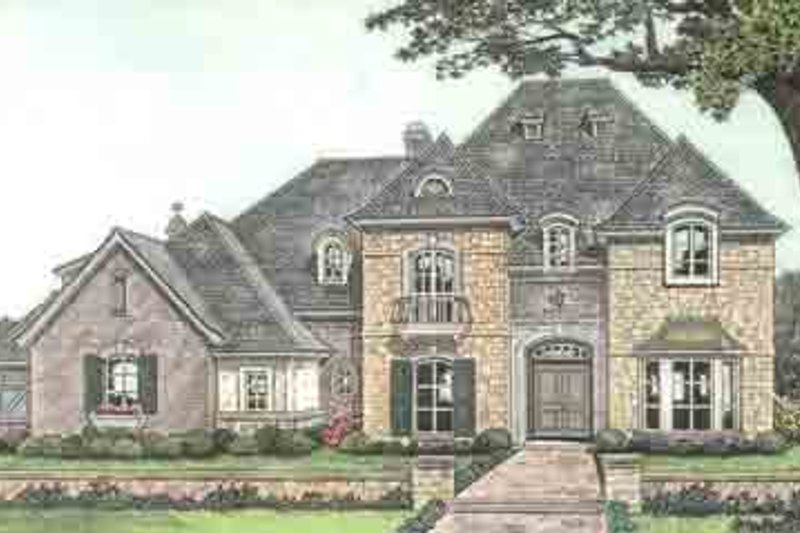 European Exterior - Front Elevation Plan #310-237