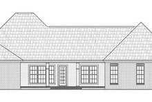 Dream House Plan - Traditional Exterior - Rear Elevation Plan #21-293
