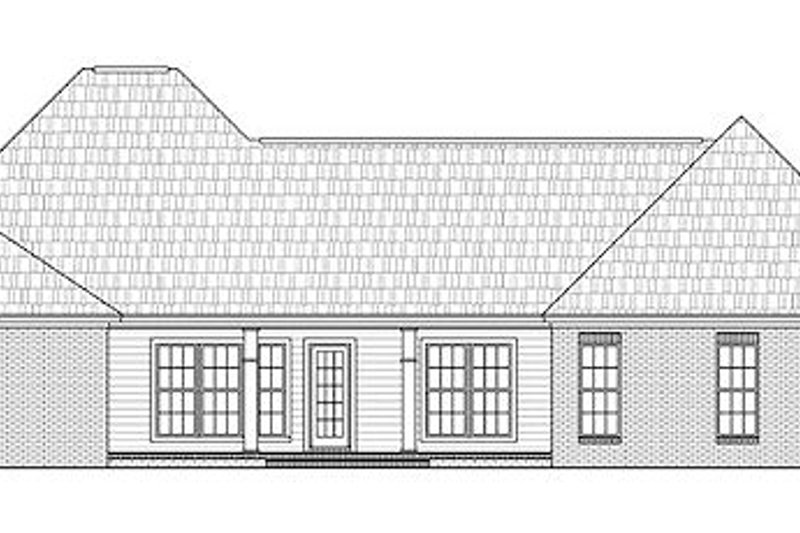 Traditional Exterior - Rear Elevation Plan #21-293 - Houseplans.com