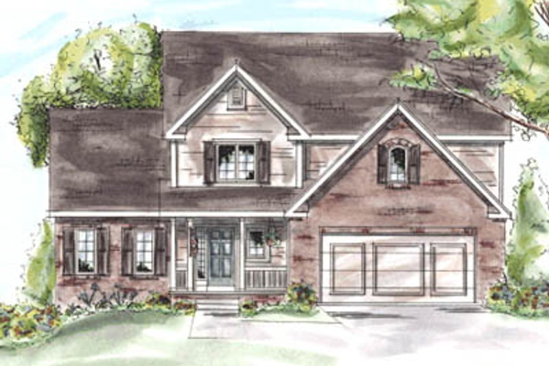 Traditional Exterior - Front Elevation Plan #20-1285 - Houseplans.com
