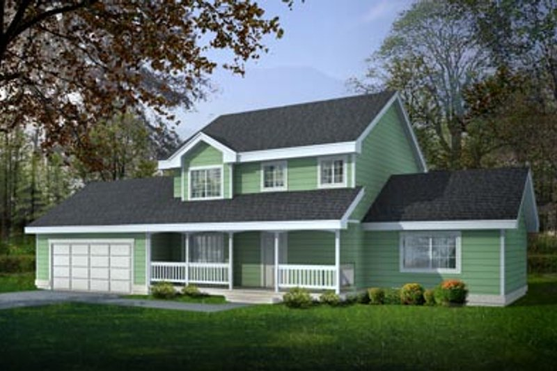 Country Style House Plan - 4 Beds 2.5 Baths 1727 Sq/Ft Plan #100-419 Exterior - Front Elevation