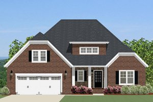 Traditional Exterior - Front Elevation Plan #898-45