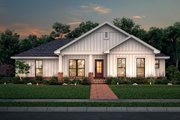 Farmhouse Style House Plan - 3 Beds 2 Baths 1327 Sq/Ft Plan #430-213 Exterior - Front Elevation
