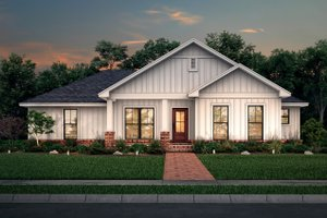 House Blueprint - Farmhouse Exterior - Front Elevation Plan #430-213