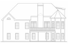Dream House Plan - Traditional Exterior - Rear Elevation Plan #419-164