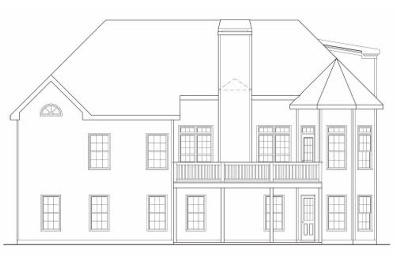 Traditional Exterior - Rear Elevation Plan #419-164 - Houseplans.com