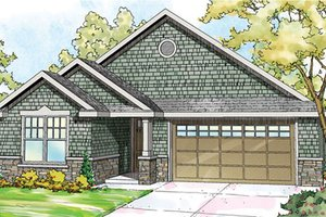 Craftsman Exterior - Front Elevation Plan #124-866