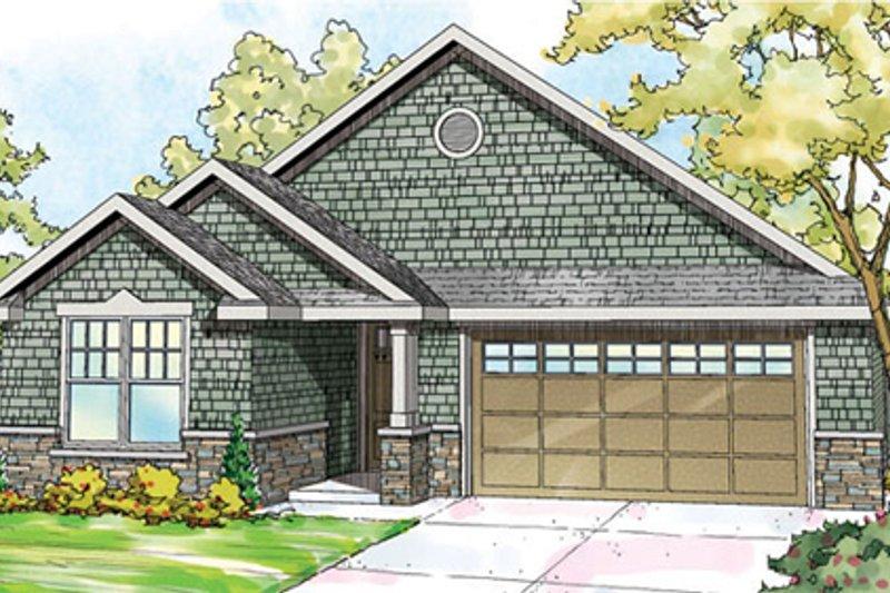 Craftsman Exterior - Front Elevation Plan #124-866 - Houseplans.com